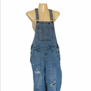 Wild Fable Distressed Light Wash Jean Overalls
